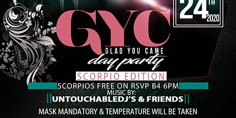 GYC DAY PARTY SCORPIO EDITION tickets