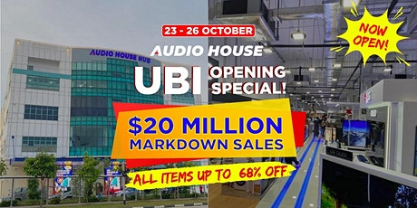 Audio House $20 Million Markdown Sales tickets