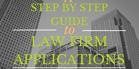A Step-by-Step Guide to Law Firms Applications with Muhammad Gangat tickets