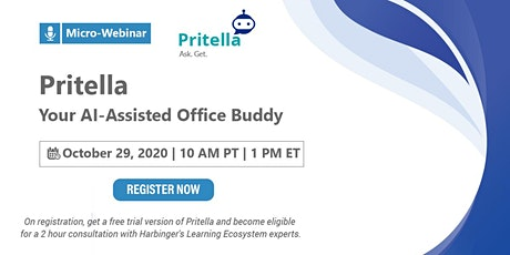 Micro Webinar: Pritella - Your AI-Assisted Office Buddy tickets