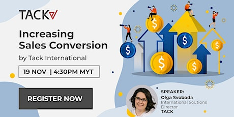 Increasing Sales Conversion by Tack International. A FREE Webinar. tickets