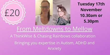 From Meltdowns to Mellow- Bringing you expertise in Autism/ADHD and Anxiety tickets
