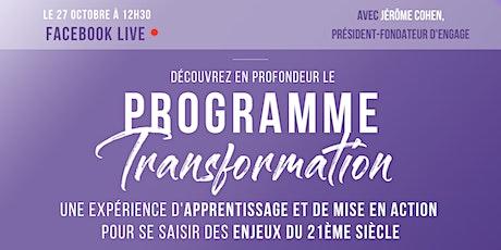 [FACEBOOK LIVE] Présentation du Programme Transformation billets