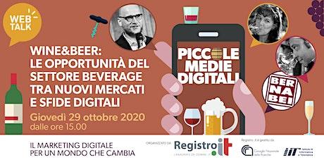 Wine&Beer: le opportunità del Beverage tra nuovi mercati e sfide digitali biglietti