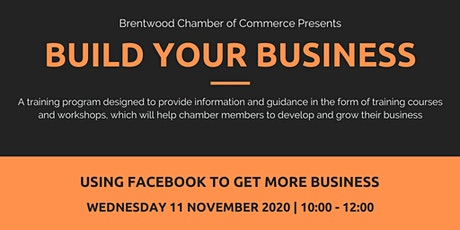Build Your Business: Using Facebook to Get More Business tickets