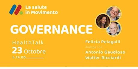 Talk con il prof. Walter Ricciardi e Antonio Gaudioso 23 ottobre biglietti