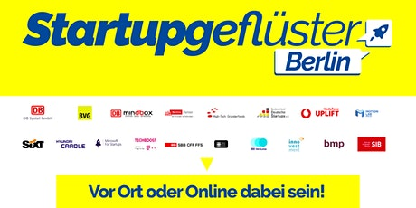 Startupgeflüster Berlin Tickets