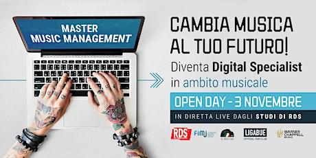 OPEN DAY Master in Music Management biglietti