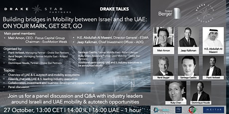 Building bridges in Mobility between Israel and the UAE tickets