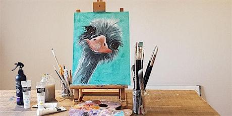 'Ostrich' Painting  workshop & Afternoon Tea @Sunnybanks tickets