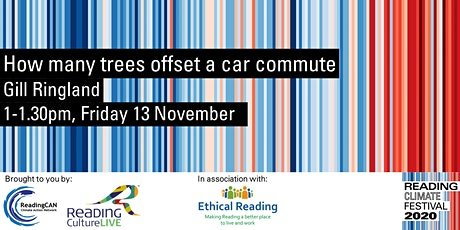 How many trees offset a car commute (Reading Climate Festival) tickets