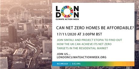 London Climate Action Week: Can Net Zero Homes Be Affordable? tickets
