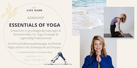 Essentials of Yoga: Eintauchen in grundlegende Haltungen & Atemtechniken Tickets