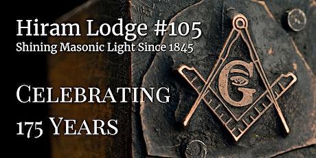 Hiram Lodge #105 175th Anniversary Celebration tickets