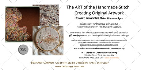Art of the Handmade Stitch tickets