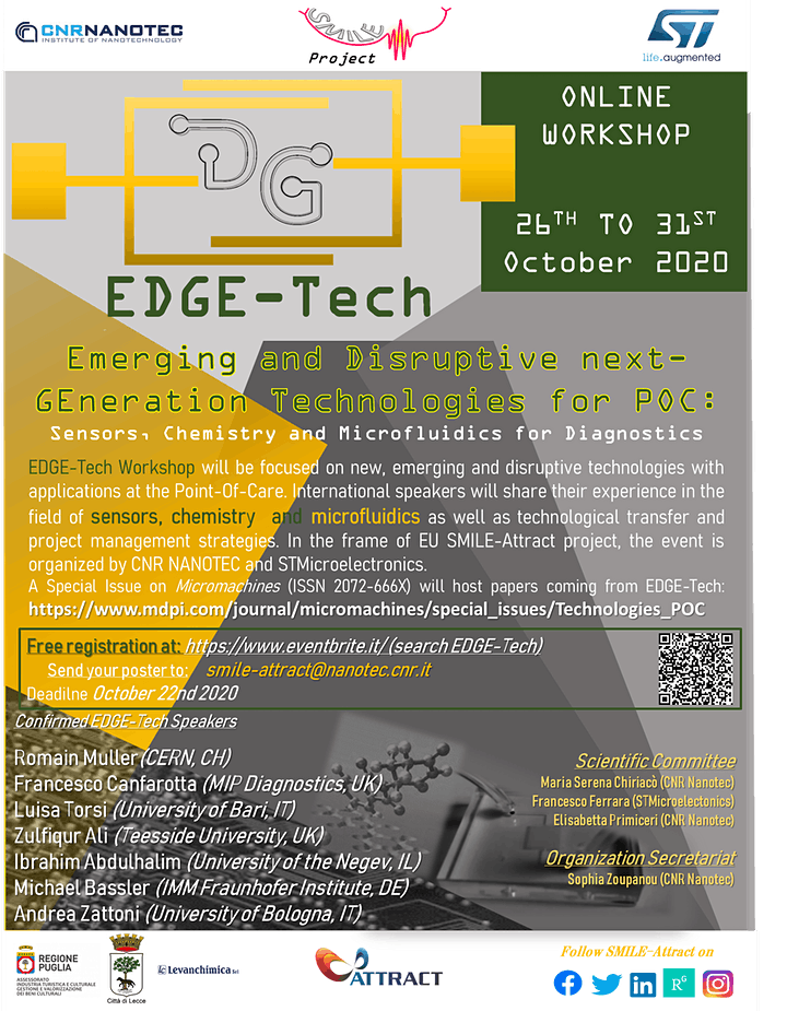 EDGE-Tech: Emerging and Disruptive next-GEneration Technologies for POC image