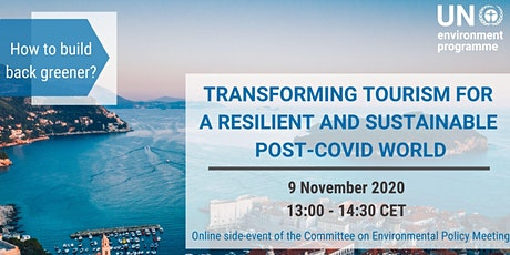 Transforming Tourism for a resilient and sustainable post-covid world tickets