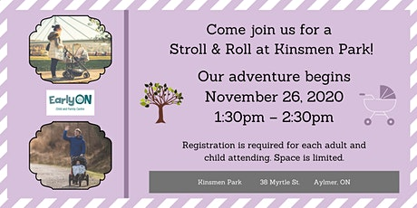 EarlyON Stroll & Roll (November 26 - Kinsmen Park, Aylmer) tickets
