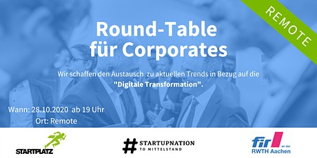 Digitaler Round-Table für Corporates #2 Value Leadership Tickets