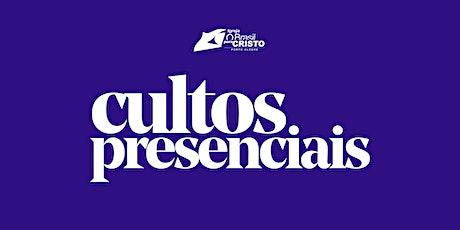 CULTOS PRESENCIAIS DOMINGO 25/10 billets