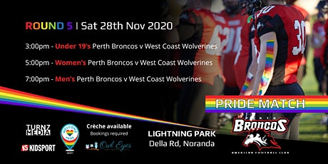 Round 5 Pride Match - Perth Broncos v West Coast Wolverines tickets