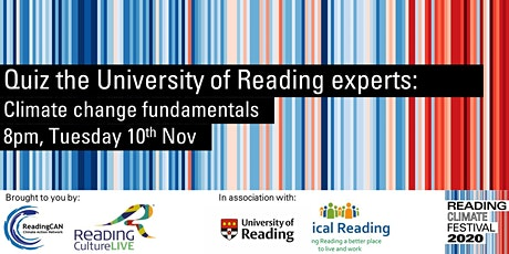 Quiz the University of Reading experts: Climate change fundamentals tickets