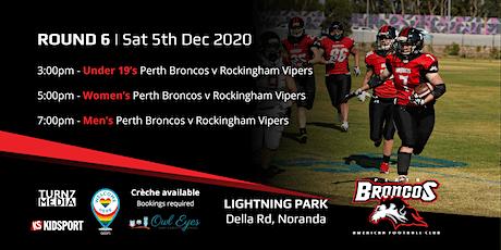 Round 6 - Perth Broncos v Rockingham Vipers tickets