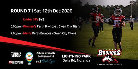 Round 7 - Perth Broncos v Swan City Titans tickets