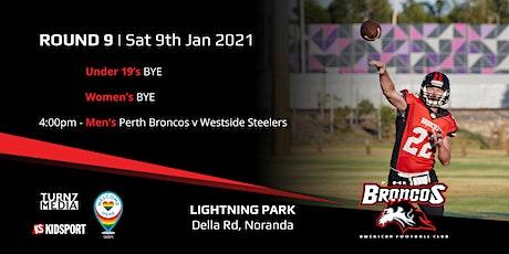 Round 9 - Perth Broncos v Westside Steelers tickets