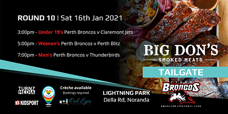 Round 10 Big Don's Smoked Meats Tailgate - Perth Broncos v Jets/Blitz tickets