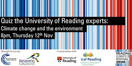 Quiz the University of Reading experts: Climate change and the environment tickets