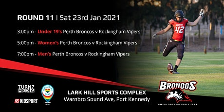 Round 11 - Perth Broncos v Rockingham Vipers tickets