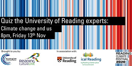 Quiz the University of Reading experts: Climate change and us tickets