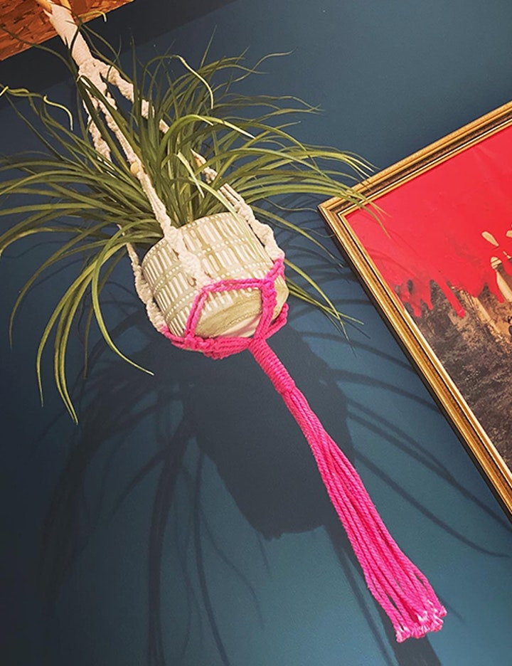 ADULT CRAFT WORKSHOP: Make your own Macrame Dip-Dyed Plant Hanger 28th Jan image