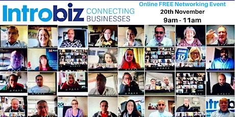 Introbiz Wales & UK Online Networking Event tickets