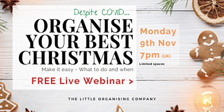 Free Webinar: How to organise your best Christmas (despite covid) tickets