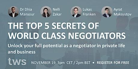 The top 5 secrets of world class negotiators tickets