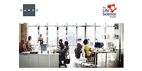 The Life Science Cluster og SANDS: Aksjonæravtaler & Aksjeinsentiver tickets