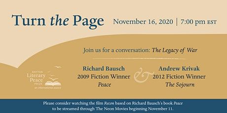 Turn the Page: The Legacy of War tickets