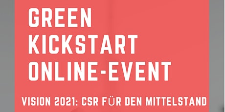 Green Kickstart Online-Event Tickets
