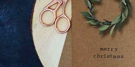 FESTIVE SERIES: Natural & Fragrant Mini Wreath Christmas Cards Dec 15th tickets