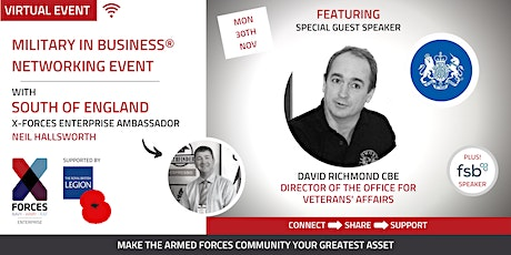 Military in Business Virtual Networking Event- South and South East tickets
