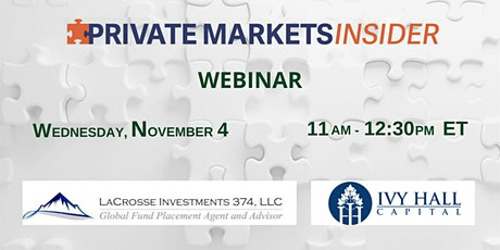 Private Markets Insider Webinar tickets