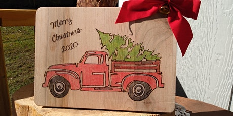 Wood Burning Workshop - Little Red Truck Christmas tickets