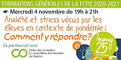 Formation «Besoins particuliers et stress/anxiété en pandémie» billets