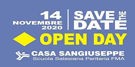 OPEN DAY - CASA SAN GIUSEPPE - Scuola Primaria - Secondo Turno biglietti