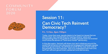 Session 11: Can Civic Tech Reinvent Democracy? tickets