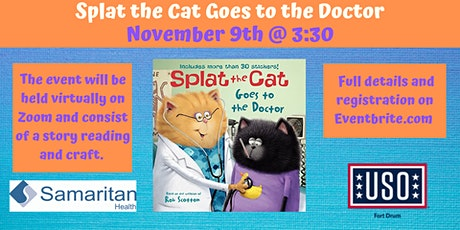 "USO VIRTUAL Story Time ""Splat the Cat Goes to the Doctor"" tickets"