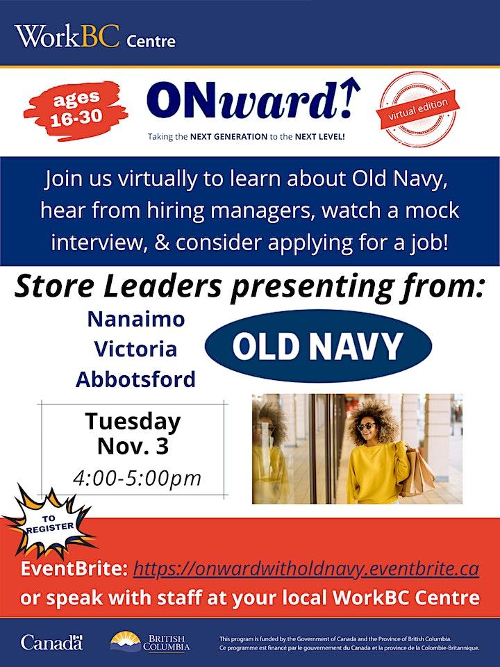 ONward! Old Navy Info Session image