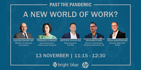 Past the pandemic: A new world of work? tickets
